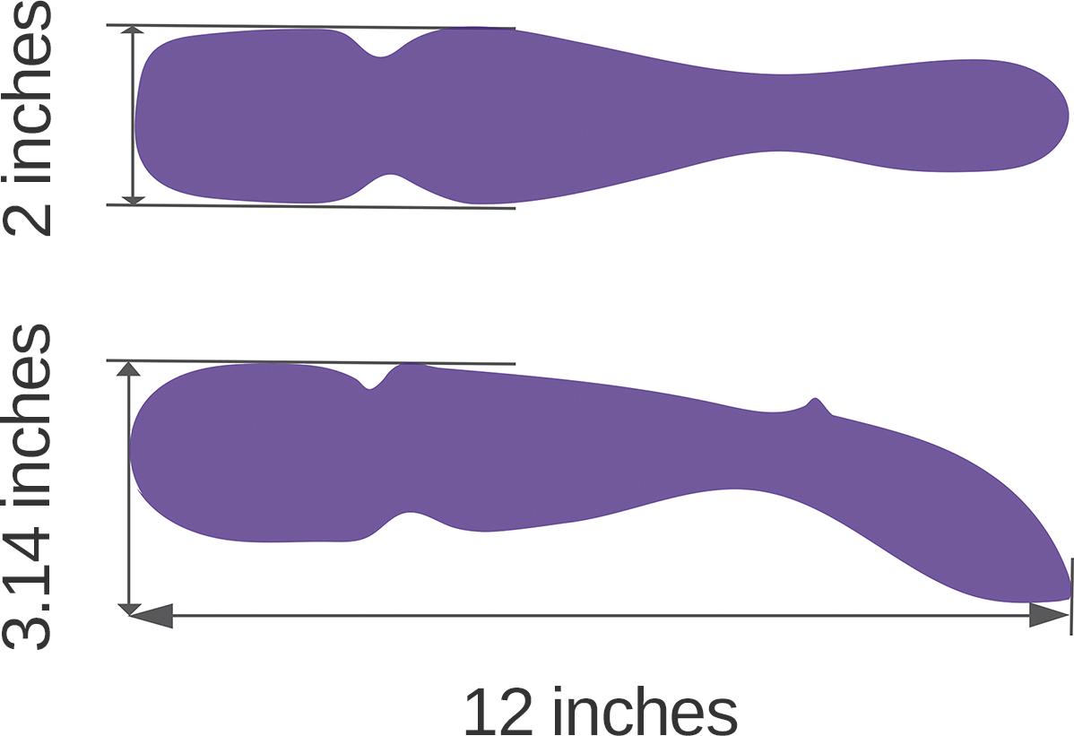 Vibrator Wand By We-Vibe - Dimensiuni